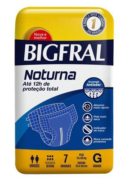 Oferta de Fralda Geriátricas Bigfral Noturna Tamanho G Com 7 Unidades por R$25,49