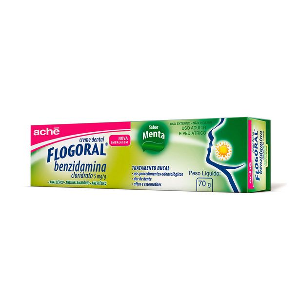 Oferta de Creme Dental Flogoral 70g por R$24,05
