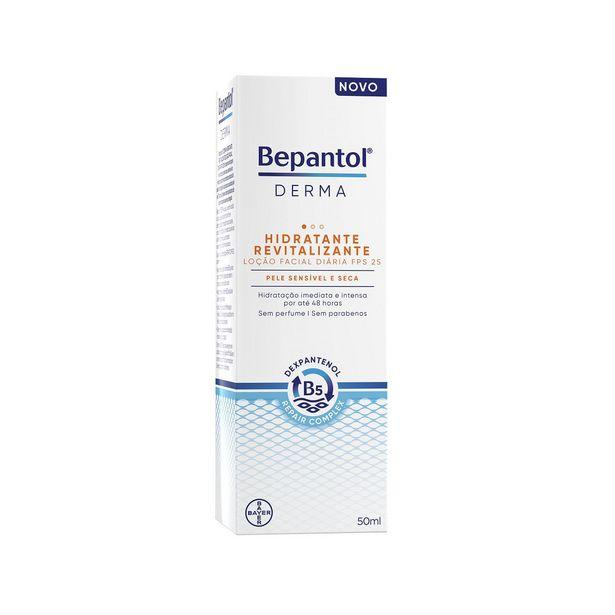 Oferta de Bepantol Derma Hidratante Revitalizante  Fps25 Loção Facial Pele Sensível E Seca 50ml por R$69,99