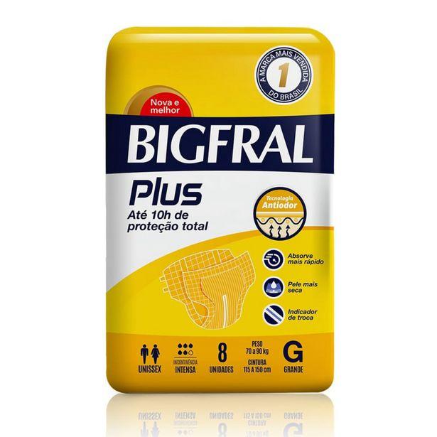Oferta de Fralda Geriátrica Bigfral Plus G Com 8 Unidades por R$24,99
