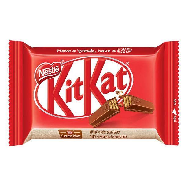 Oferta de Chocolate Kitkat 4 Fingers Ao Leite 41,5g por R$3,19