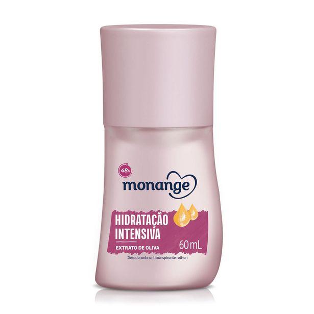 Oferta de Desodorante Roll-On Antitranspirante Monange Feminino Hidratação Intensiva 60ml por R$5,69