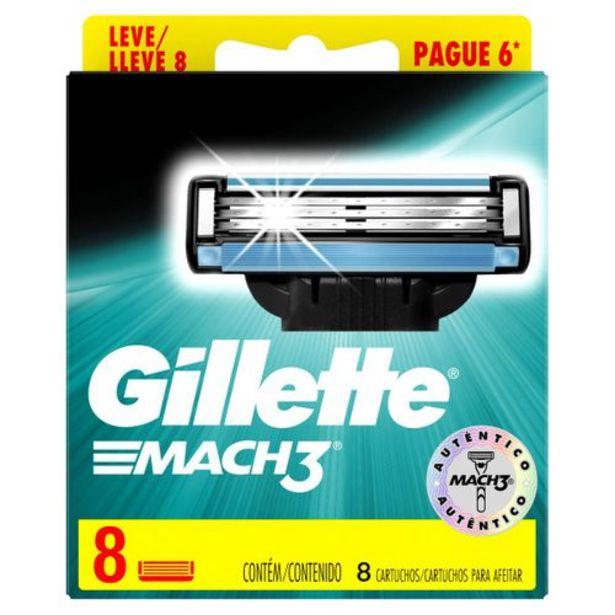 Oferta de Carga Para Aparelho De Barbear Gillette Mach3 - Leve 8 Pague 6 por R$69,99