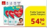 Oferta de Fralda Supersec Jumbo Pampers por