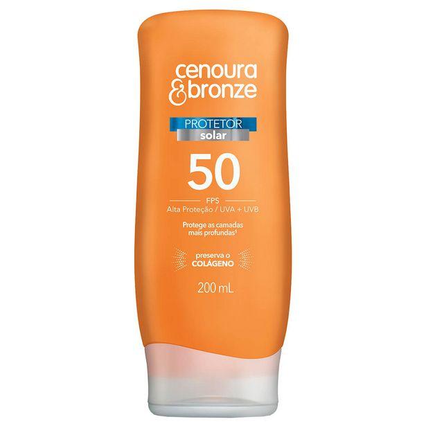 Oferta de Protetor Solar Corporal Cenoura & Bronze FPS50 por R$28,13