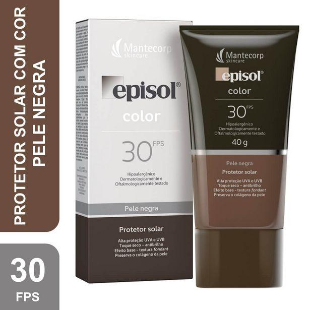 Oferta de Protetor Solar Facial Episol Color Pele Negra FPS30 por R$52,49