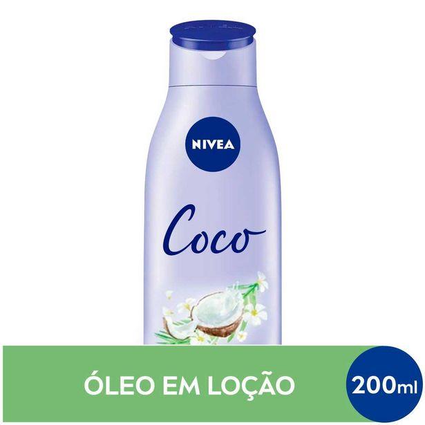 Oferta de Loção Deo-Hidratante Nivea Óleos Essenciais Coco e Óleo Monoi com 200ml por R$6,67