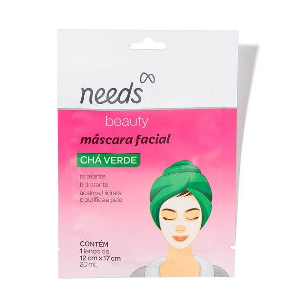 Oferta de Máscara Facial de Chá Verde Needs Beauty com 1 unidade por R$7,19