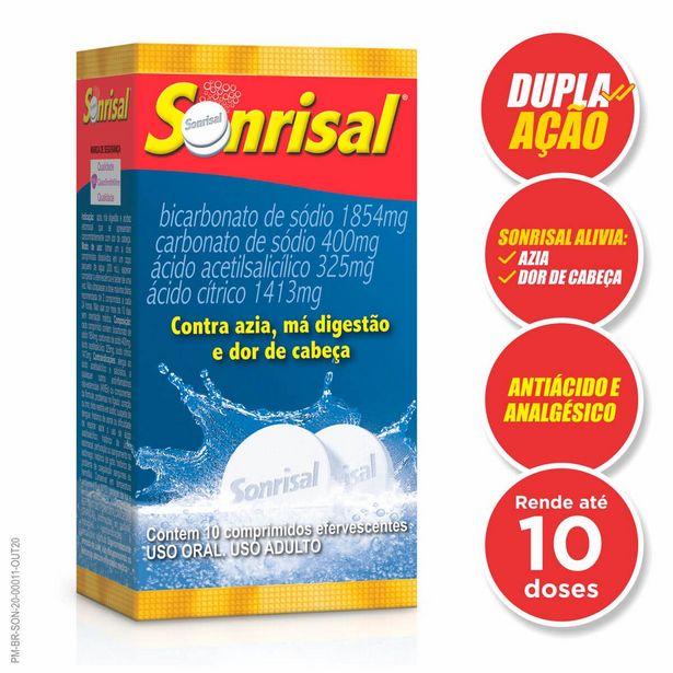 Oferta de Sonrisal Tradicional 5 Envelopes com 2 Comprimidos Efervescentes por R$8,63