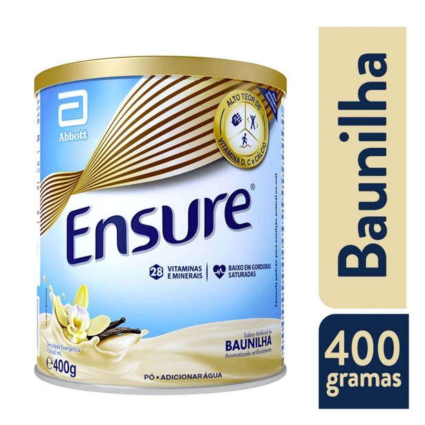 Oferta de Suplemento Nutricional Ensure Sabor Baunilha com 400g por R$50,19