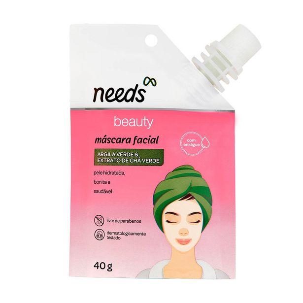 Oferta de Máscara Facial Needs Beauty Argila Verde & Extrato de Chá Verde por R$12,67