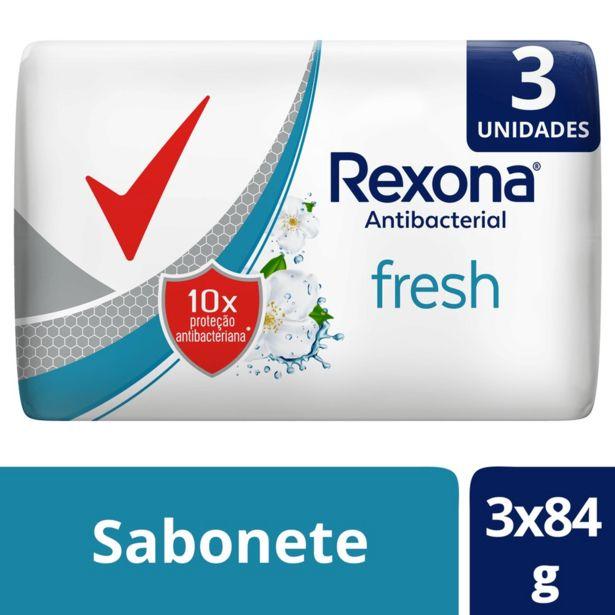 Oferta de Kit Sabonete em Barra Rexona Antibacterial Fresh por R$3,99