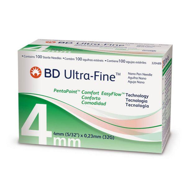 Oferta de Agulha para Caneta Aplicadora de Insulina BD Ultra-Fine Nano 4mm com 100 unidades por R$77,99