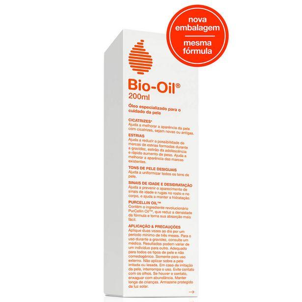 Oferta de Óleo Corporal Bio-Oil Antiestrias e Cicatrizante com 200ml por R$77,5