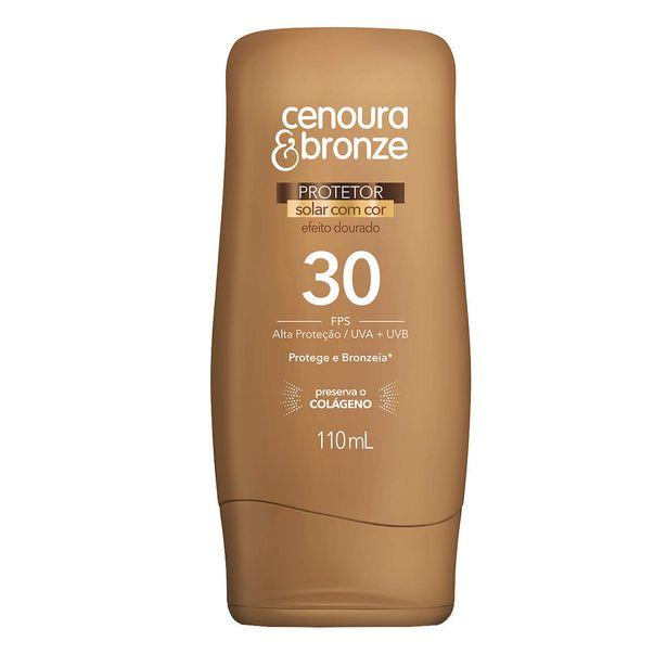 Oferta de Protetor Solar Corporal Cenoura & Bronze com Cor FPS30 110ml por R$19,66