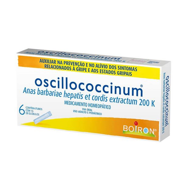 Oferta de Oscillococcinum 200k com 6 tubos de 1g por R$68,59