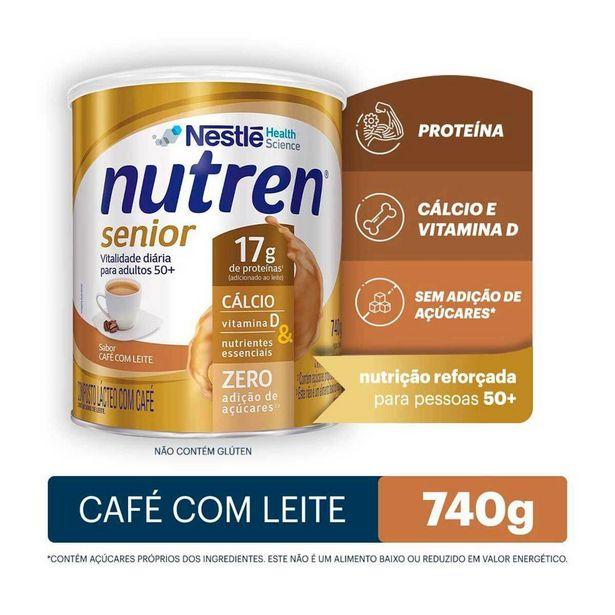 Oferta de Suplemento Alimentar Nestlé Nutren Senior Sabor Café com Leite com 740g por R$113,03