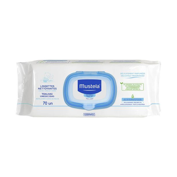 Oferta de Lenços Umedecidos Mustela Bebê com 70 unidades por R$19,9