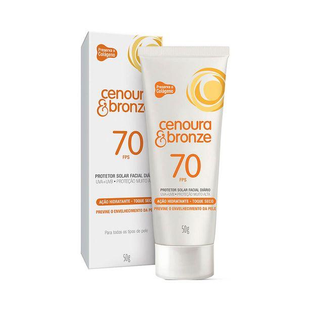 Oferta de Protetor Solar Facial Cenoura & Bronze FPS70 50g por R$27,99