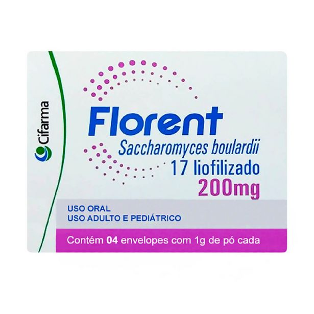 Oferta de Probiótico Florent 200mg com 4 envelopes de 1g por R$13,29