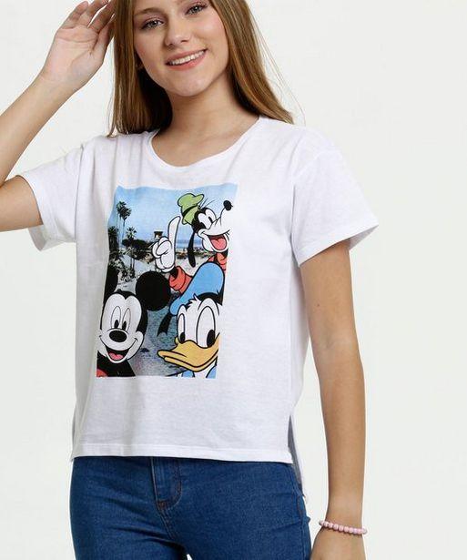 Oferta de Blusa Juvenil Estampa Mickey Manga Curta Disney  por R$15,99