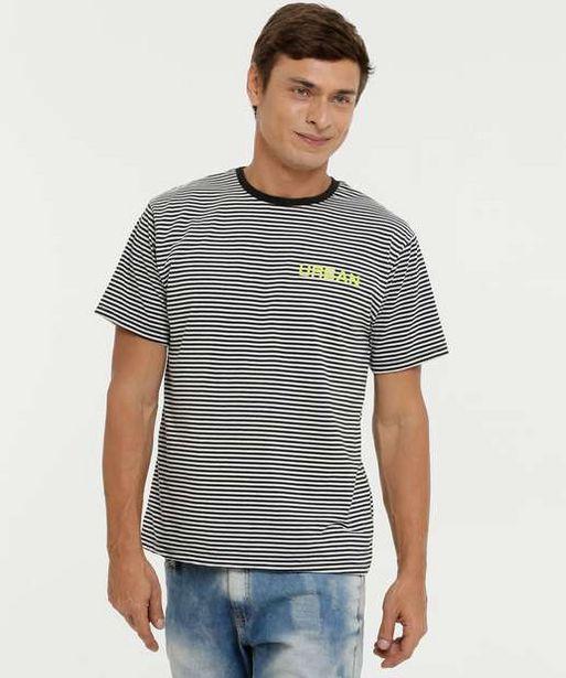 Oferta de Camiseta Masculina Listrada Manga Curta por R$19,99
