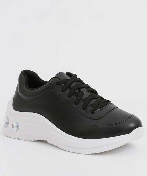 Oferta de Tênis Feminino Chunky Sneaker Pedraria Zatz  por R$69,99