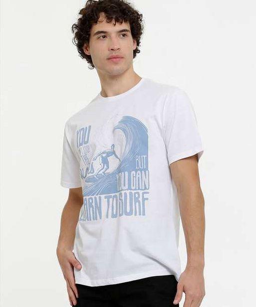 Oferta de Camiseta Masculina Estampada Manga Curta por R$19,99