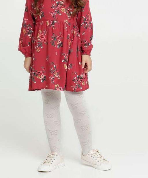 Oferta de Meia Calça Infantil Textura Borboleta Marisa por R$5,99
