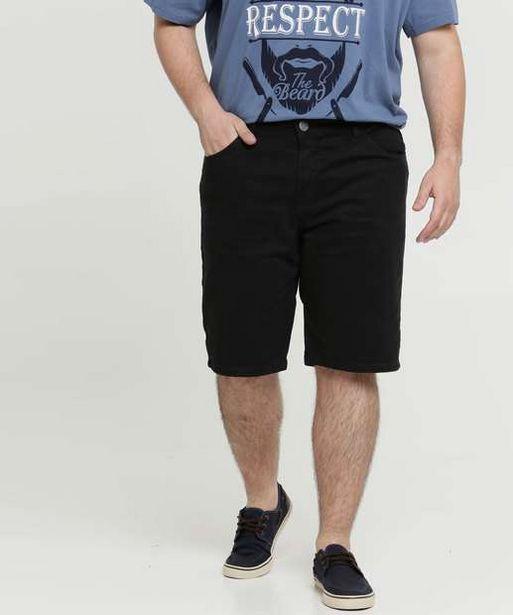 Oferta de Bermuda Masculina Sarja Bolsos Plus Size Razon por R$47,99