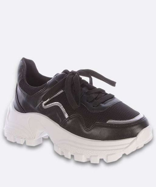 Oferta de Tênis Feminino Chunky Sneaker Recorte Tela Zatz  por R$99,99