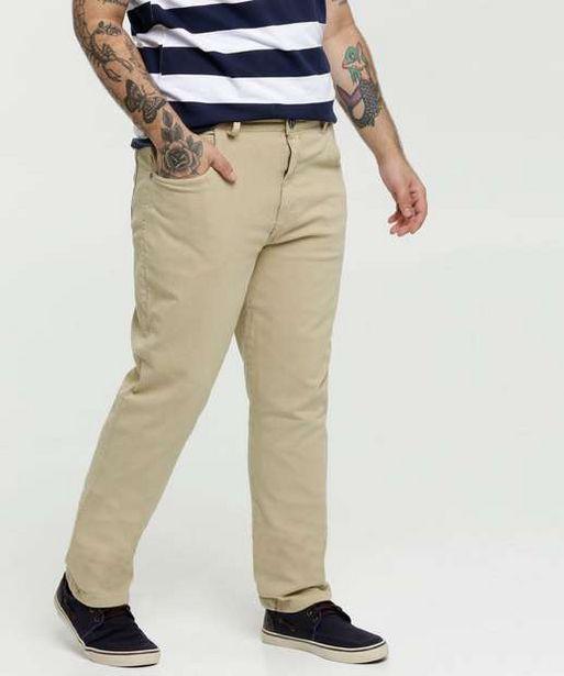 Oferta de Calça Masculina Sarja Reta Plus Size  por R$59,99