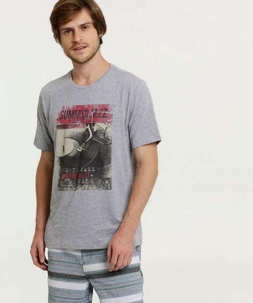 Oferta de Camiseta Masculina Estampa Frontal Bolso MR  por R$19,99