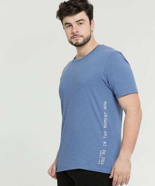 Oferta de Camiseta Masculina Botonê Plus Size Manga Curta por R$29,99