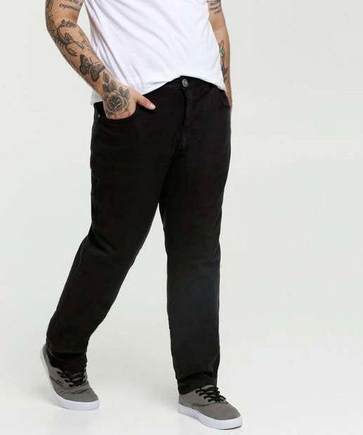 Oferta de Calça Masculina Sarja Reta Plus Size  por R$66,95