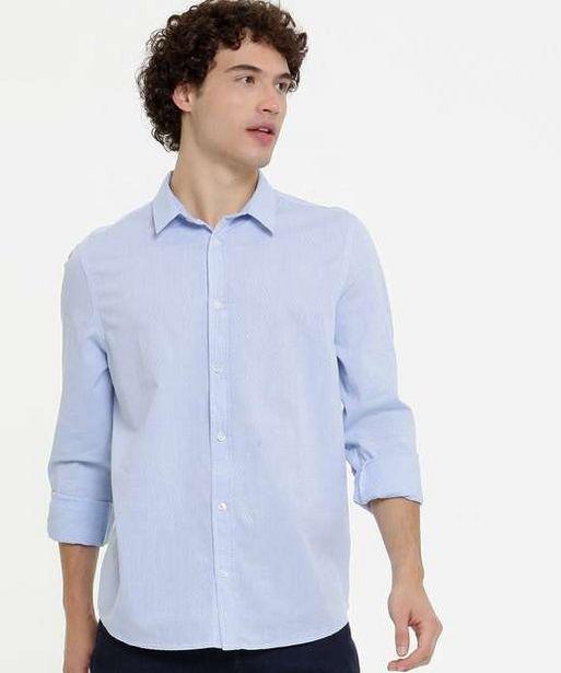 Oferta de Camisa Masculina Textura Manga Longa MR por R$44,99