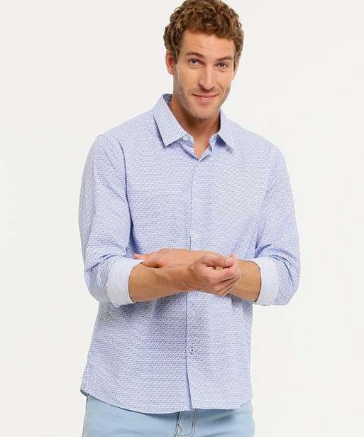 Oferta de  Camisa Masculina Estampada Manga Longa Yacht Master por R$55,95