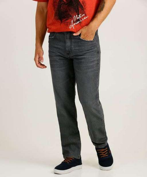 Oferta de Calça Masculina Jeans Reta Bolsos por R$49,99