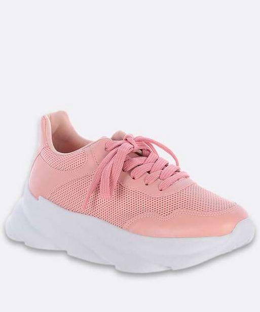 Oferta de Tênis Feminino Chunky Sneaker Recorte Zatz por R$62,99