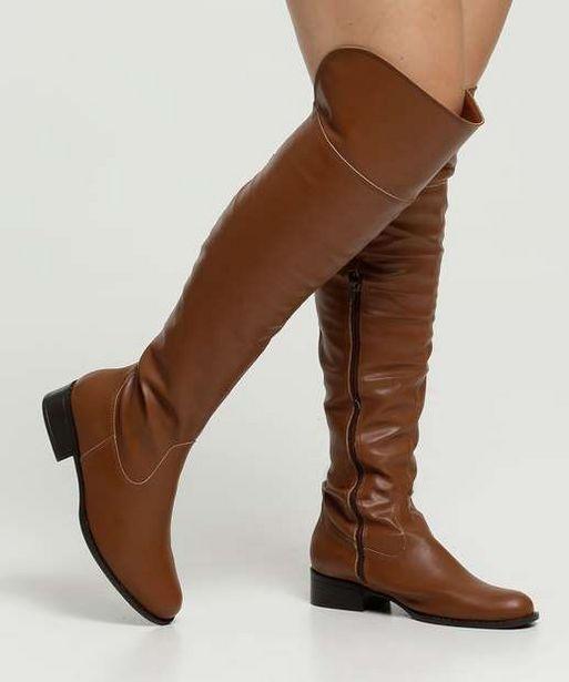 Oferta de Bota Feminina Over The Knee Salto Grosso Via Uno por R$69,99