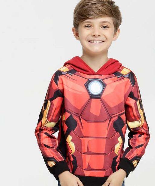 Oferta de Casaco Infantil Moletom Estampa Homem De Ferro Marvel por R$39,99