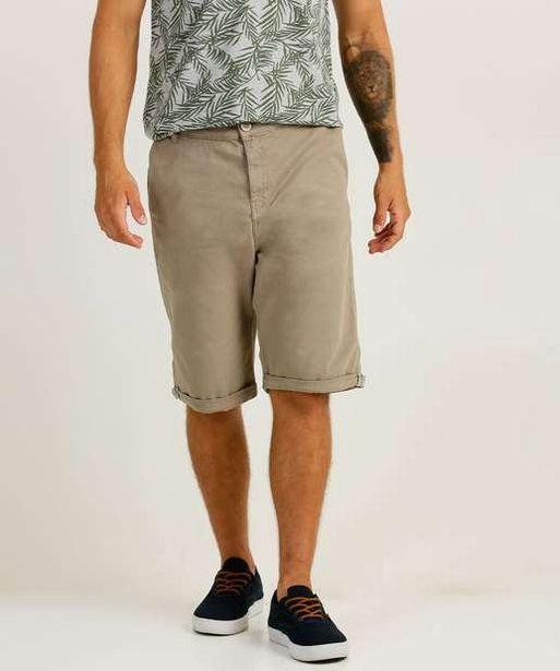 Oferta de Bermuda Masculina Sarja Barra Dobrada Zune Jeans por R$49,99