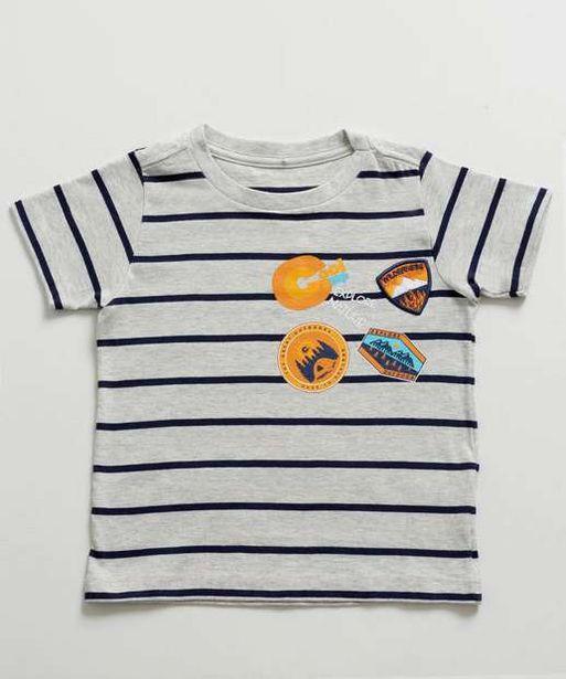 Oferta de Camiseta Infantil Listrada Manga Curta MR por R$12,99