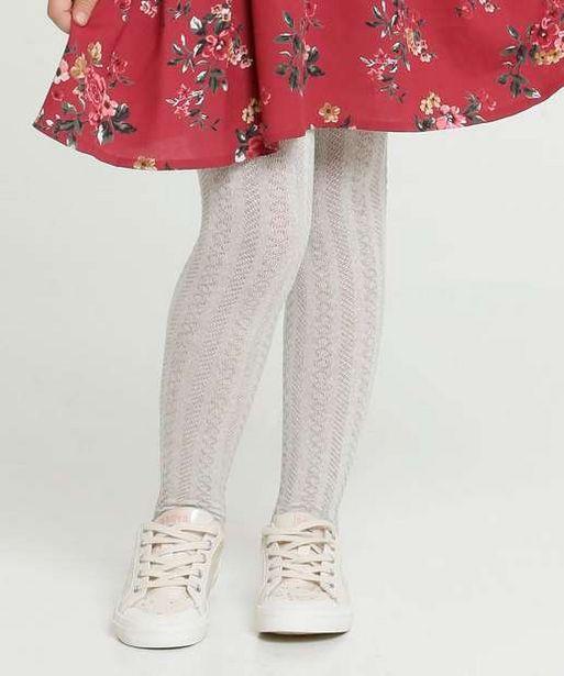 Oferta de Meia Calça Infantil Textura Marisa por R$7,99