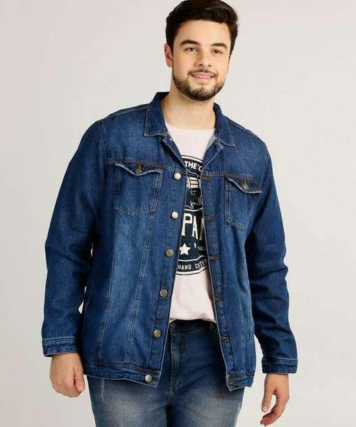 Oferta de  Jaqueta Masculina Jeans Bolsos Plus Size Cambos por R$94,99