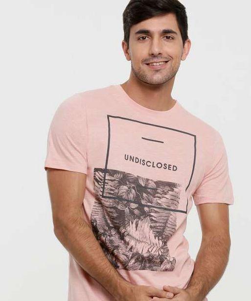 Oferta de Camiseta Masculina Estampa Folhas Manga Curta  por R$27,99