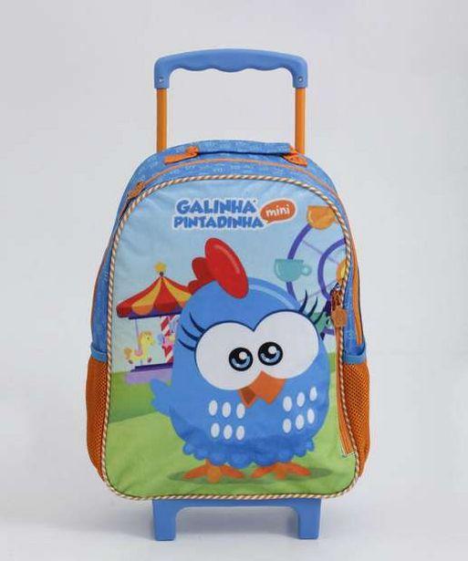 Oferta de Mochila Infantil Escolar Rodinha Galinha Pintadinha Xeryus por R$59,99
