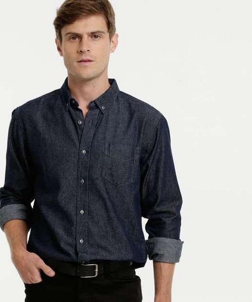 Oferta de Camisa Masculina Jeans Manga Longa MR por R$55,99