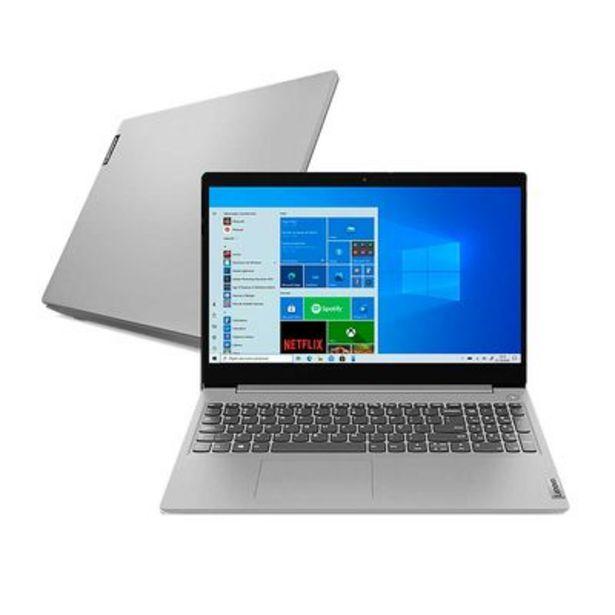 """Oferta de Notebook Lenovo Core i5 8GB 256GB SSD 15.6"""" Windows 10 IdeaPad 3i-15IML 82BS0005BR Intel® Core™ i5 10210U por R$3799,05"""