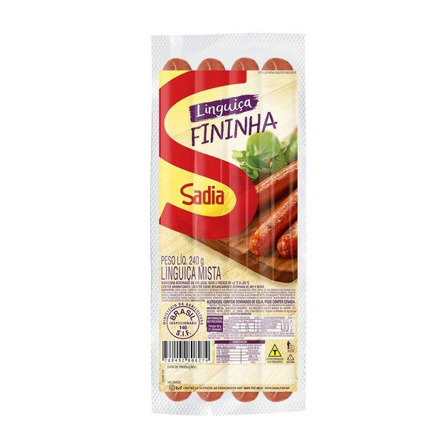 Oferta de Linguiça Mista Sadia 240g por R$7,69
